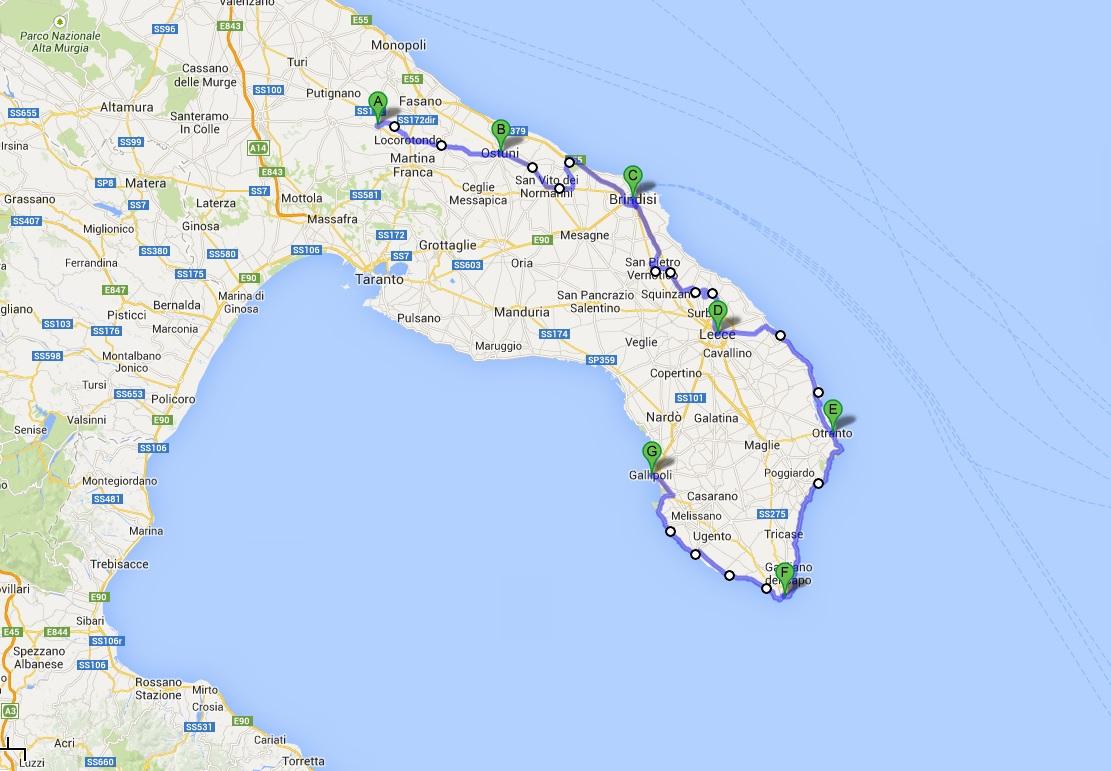 Cicloturismo na Puglia: o roteiro da cicloviagem