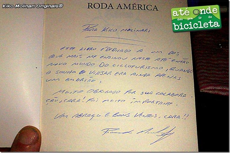 Livro Roda América Dedicatória