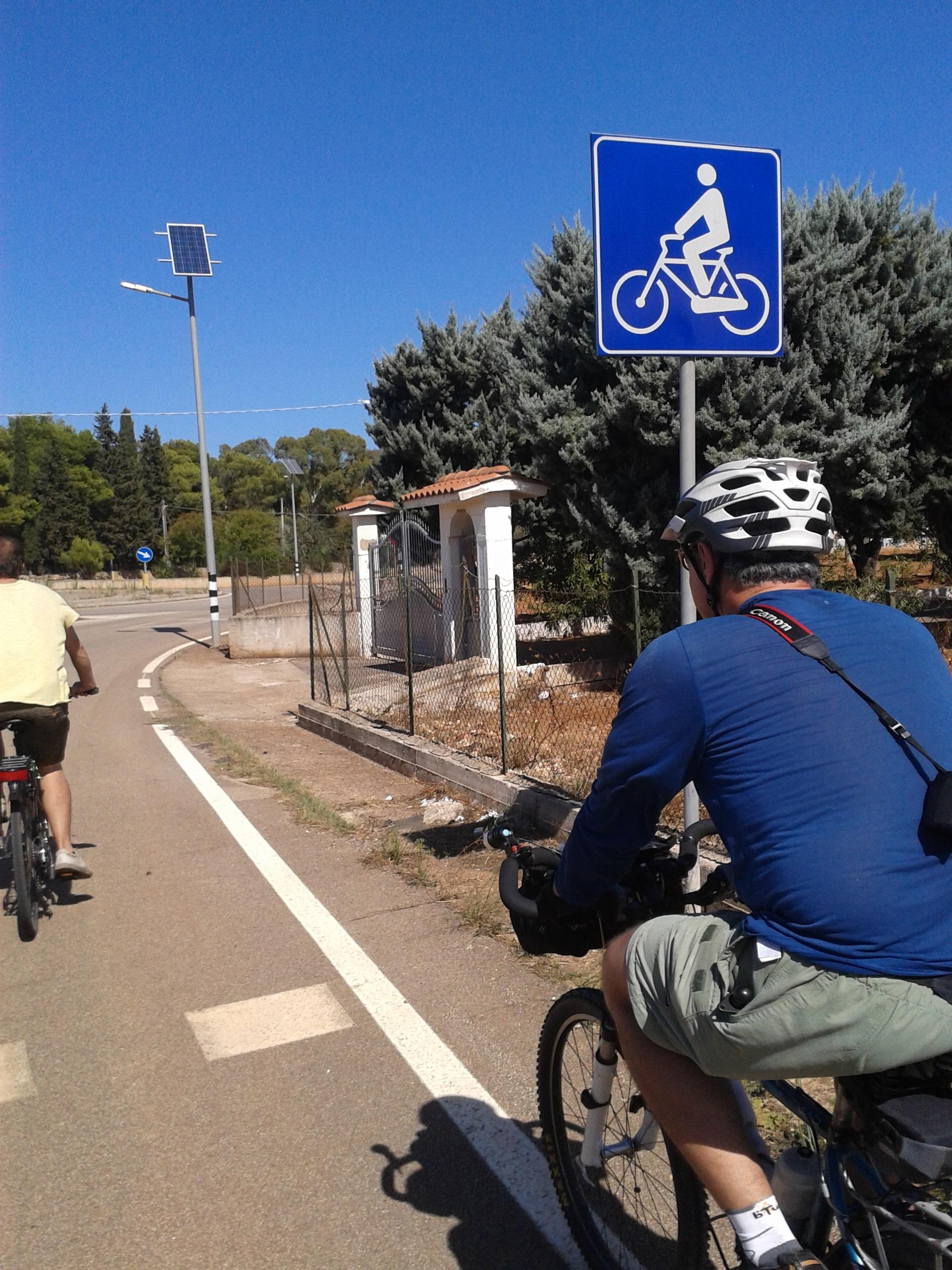 Caminho para as bikes!