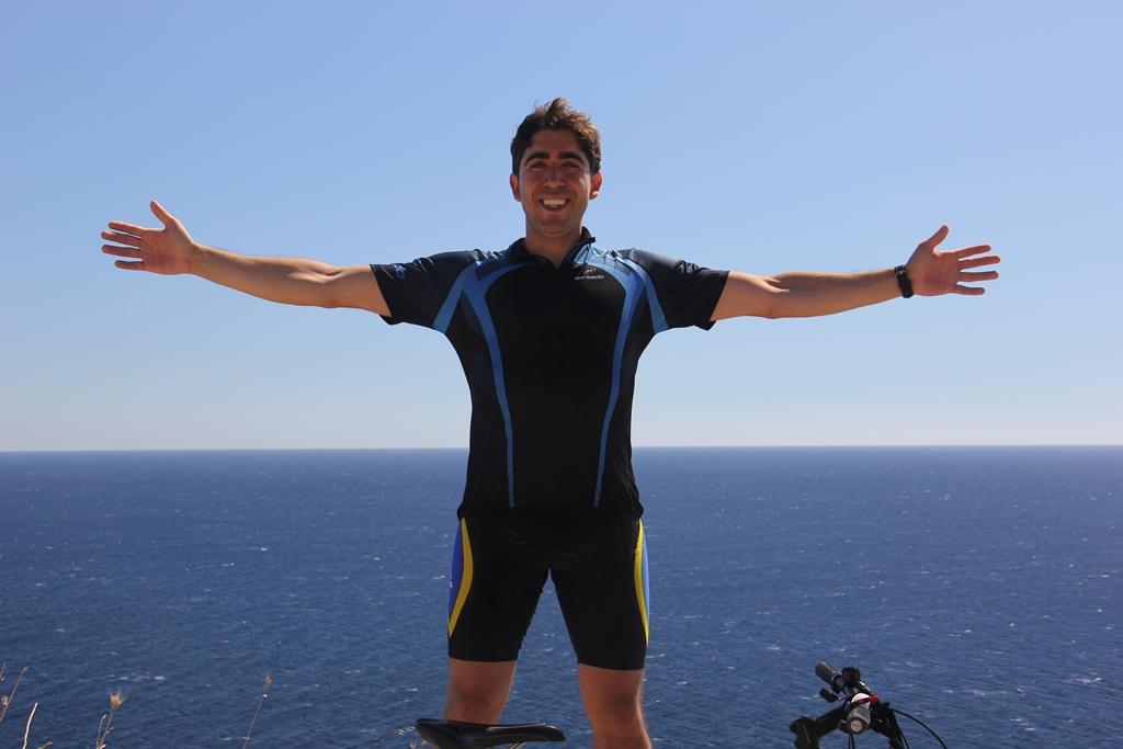 Em viagem de cicloturismo na Itália, 2013