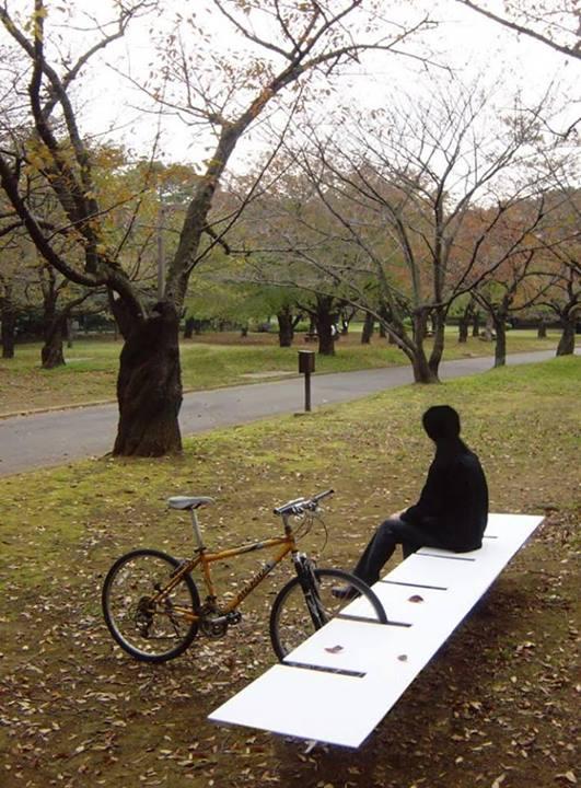 banco com bicicletario