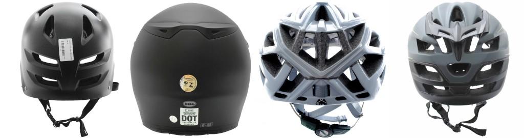 ventilação traseira do capacete de ciclismo