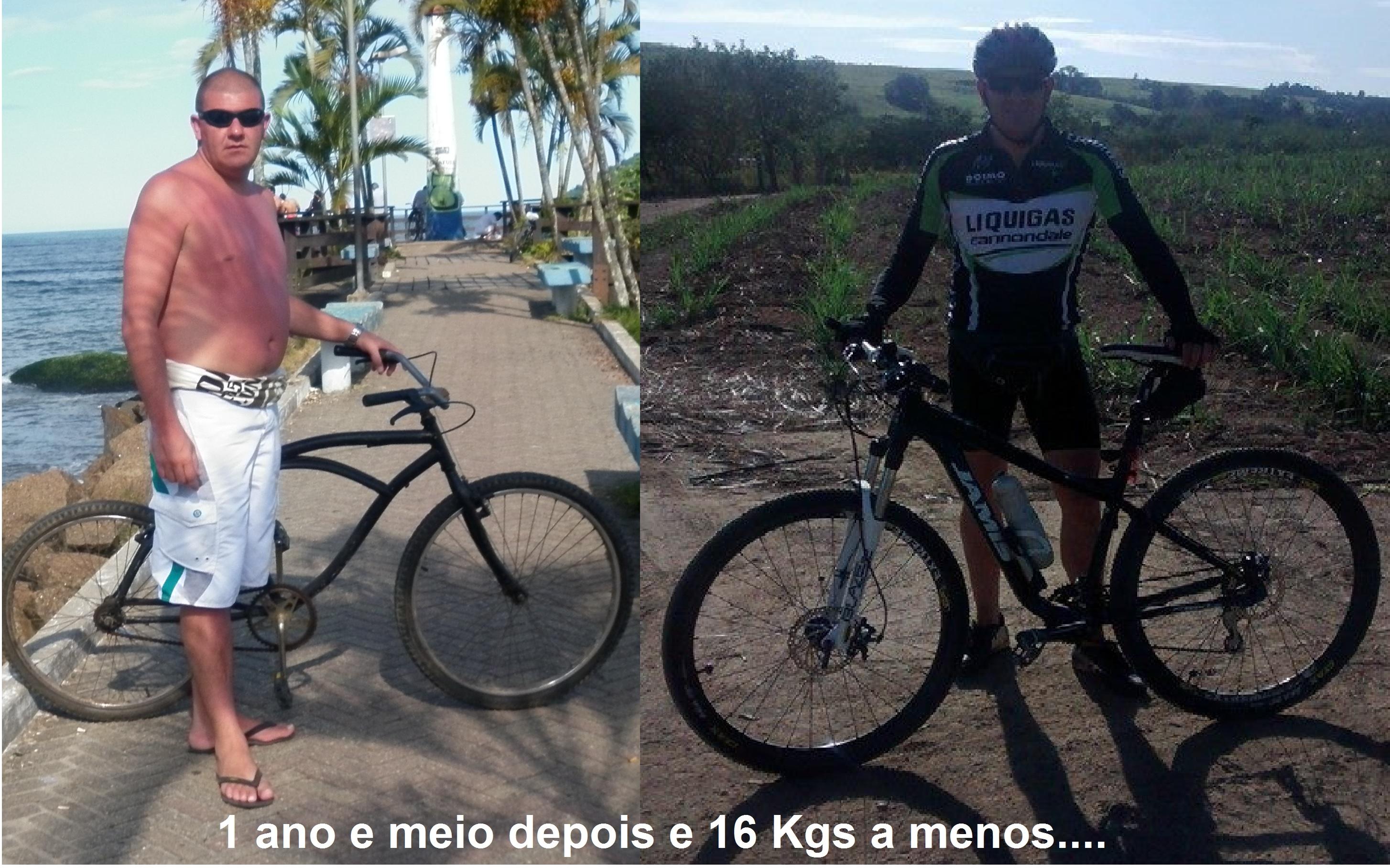 Antes e depois da bicicleta