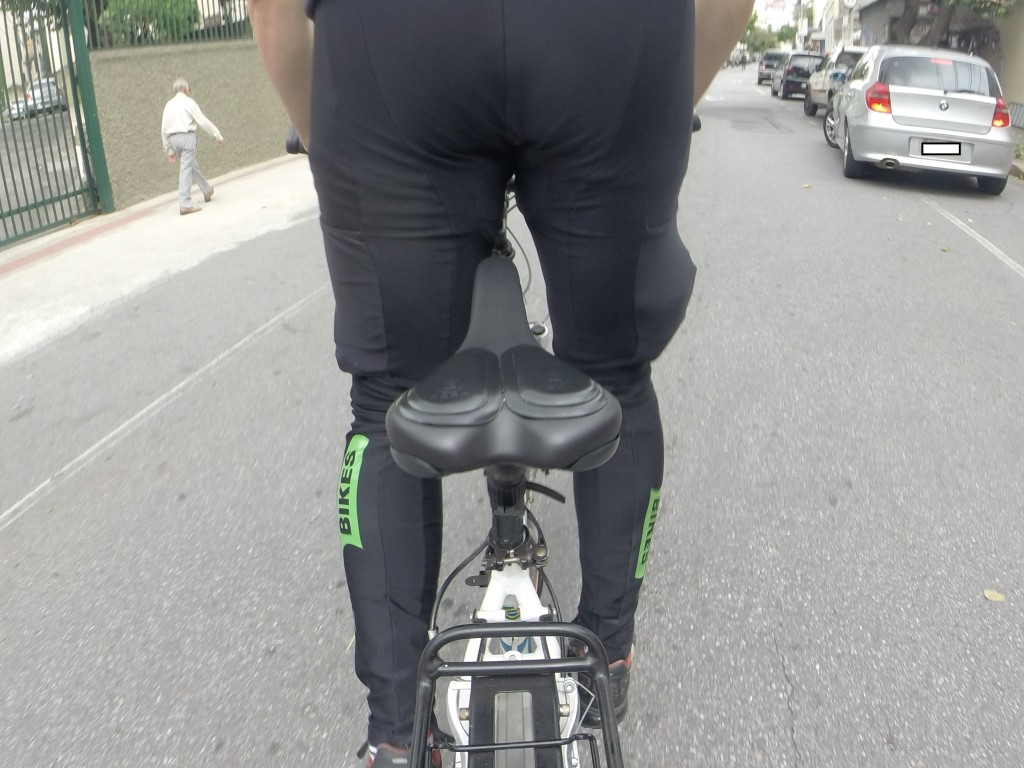 Durante as pedaladas. Foto: André Schetino