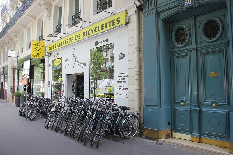 Bike shops em Paris: Au Reparateur de Bicyclettes. Foto: André Schetino