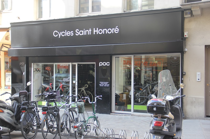 Bike shops em Paris - Cycles Saint Honoré. Foto: André Schetino