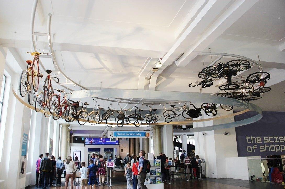 Bicycle Tour, no Museu da Ciência de Londres.