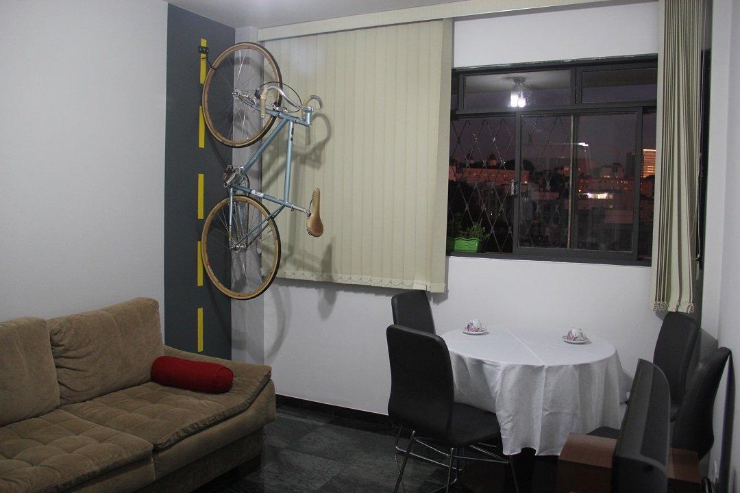 decoração: guarde sua bicicleta na sala