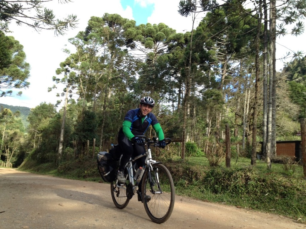 cicloturismo em estrada de terra