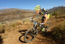 Sally Bigham mulheres no mountain bike