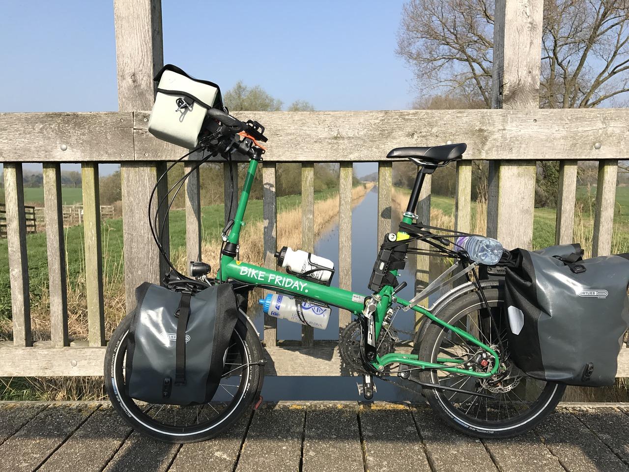 bicicleta dobrável para cicloturismo