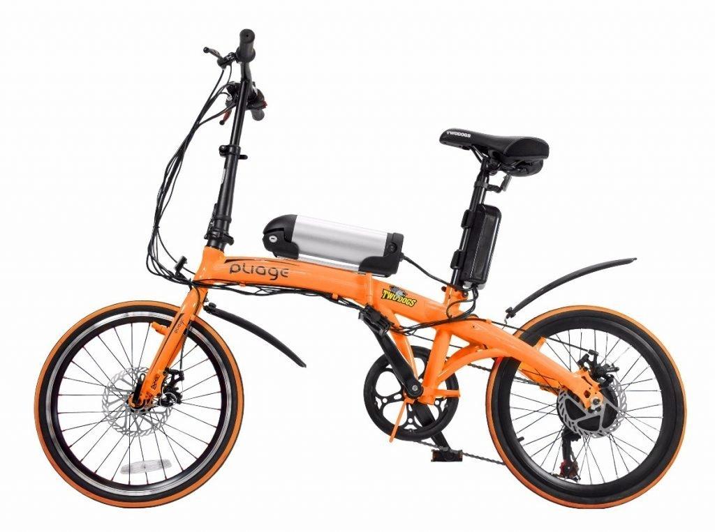 bicicleta dobrável elétrica two dogs pliage