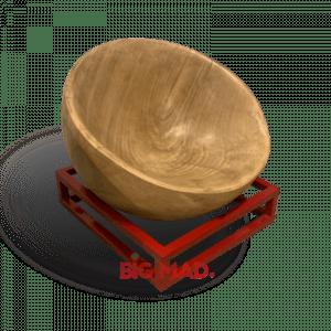 Poltrona Côncavo Madeira Macica Com base