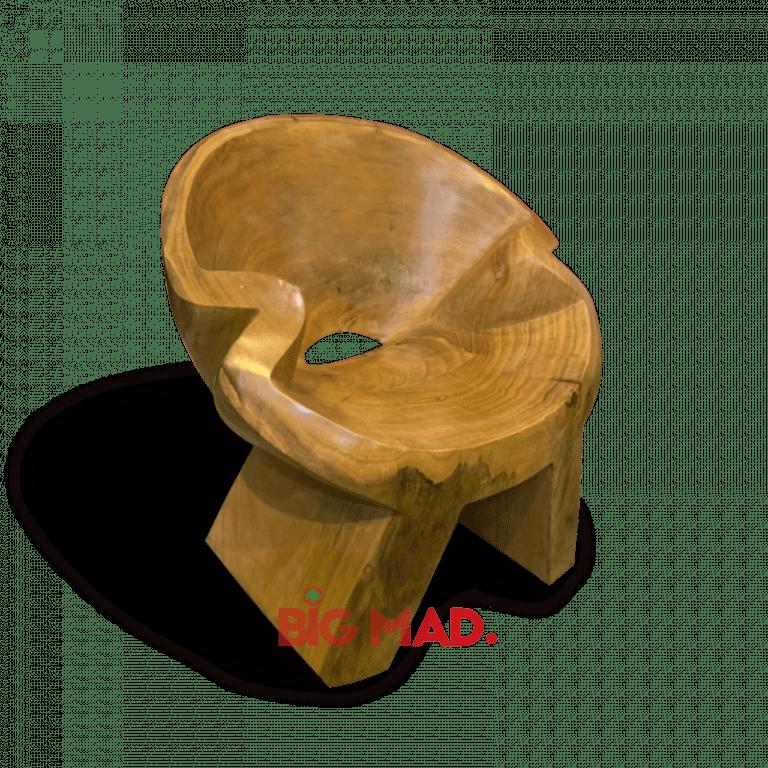 Poltrona Lótus de Madeira Macica