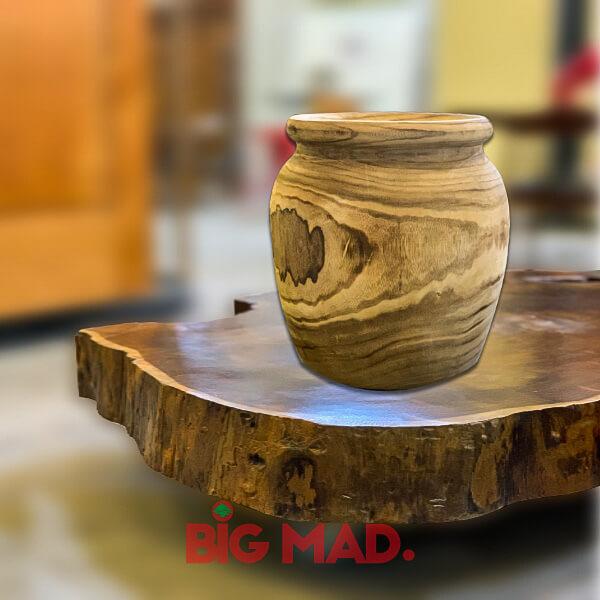 Vaso de Madeira Macica Desenhado