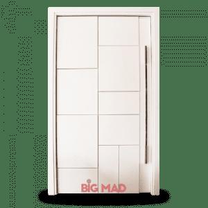 Porta Pivotante de Madeira Macica Branca