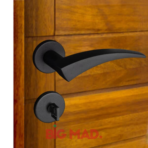 Fechadura para portas preta