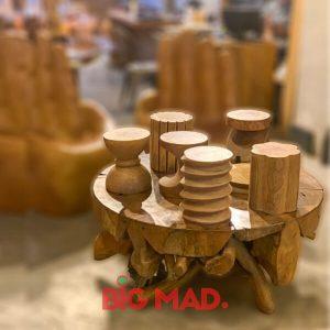 Mesa de Centro Raiz Teka Madeira Macica