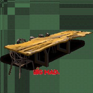 Mesa de Jantar Tora de Madeira Raiz