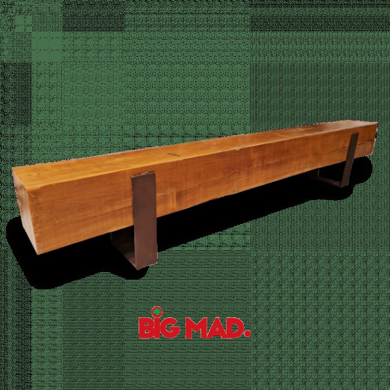 banco de madeira macica design