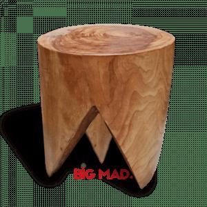 Banco Tridente em madeira macica