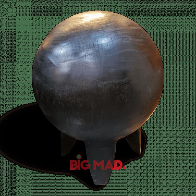 Escultura Black Marte em madeira macica