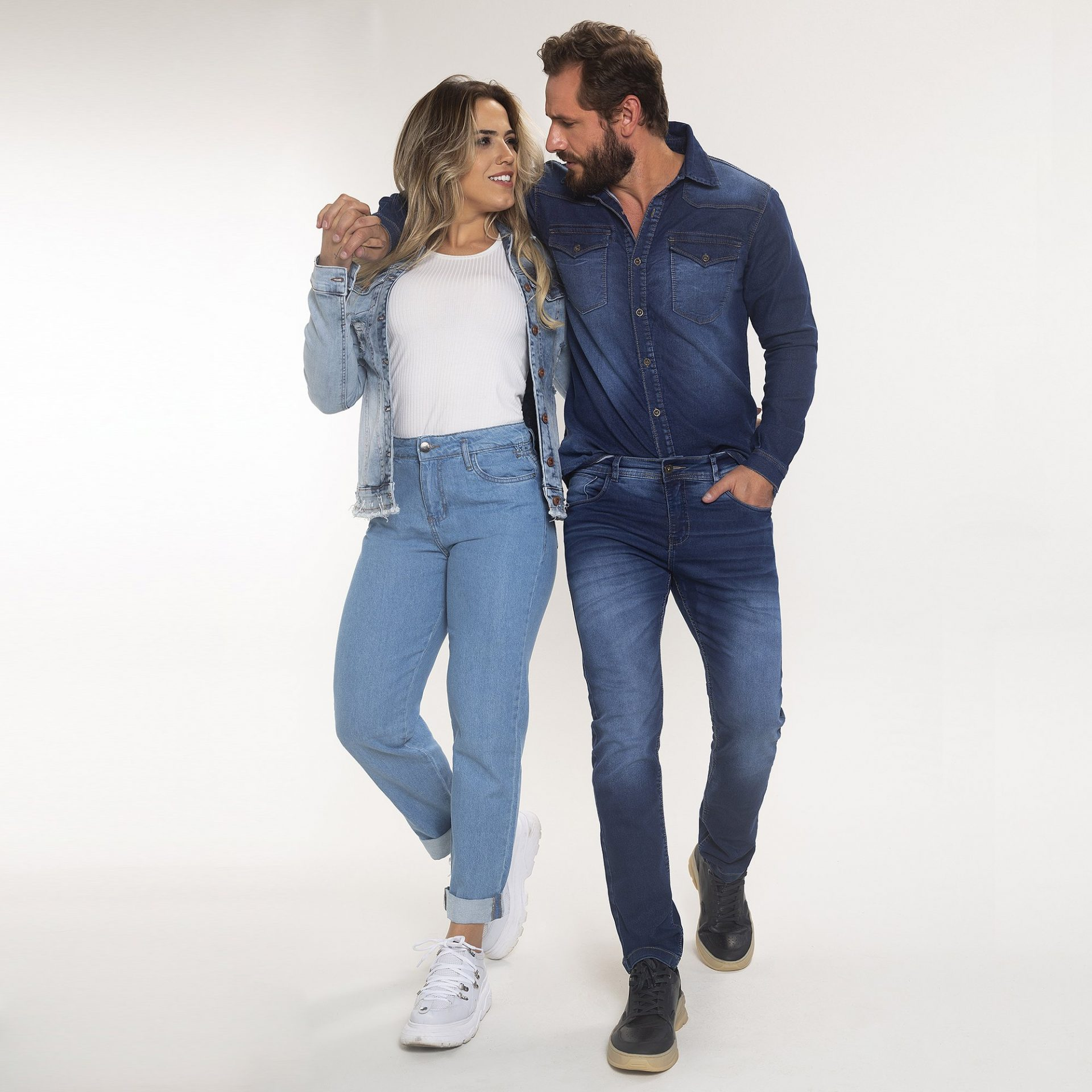 Calça e Jaqueta Jeans