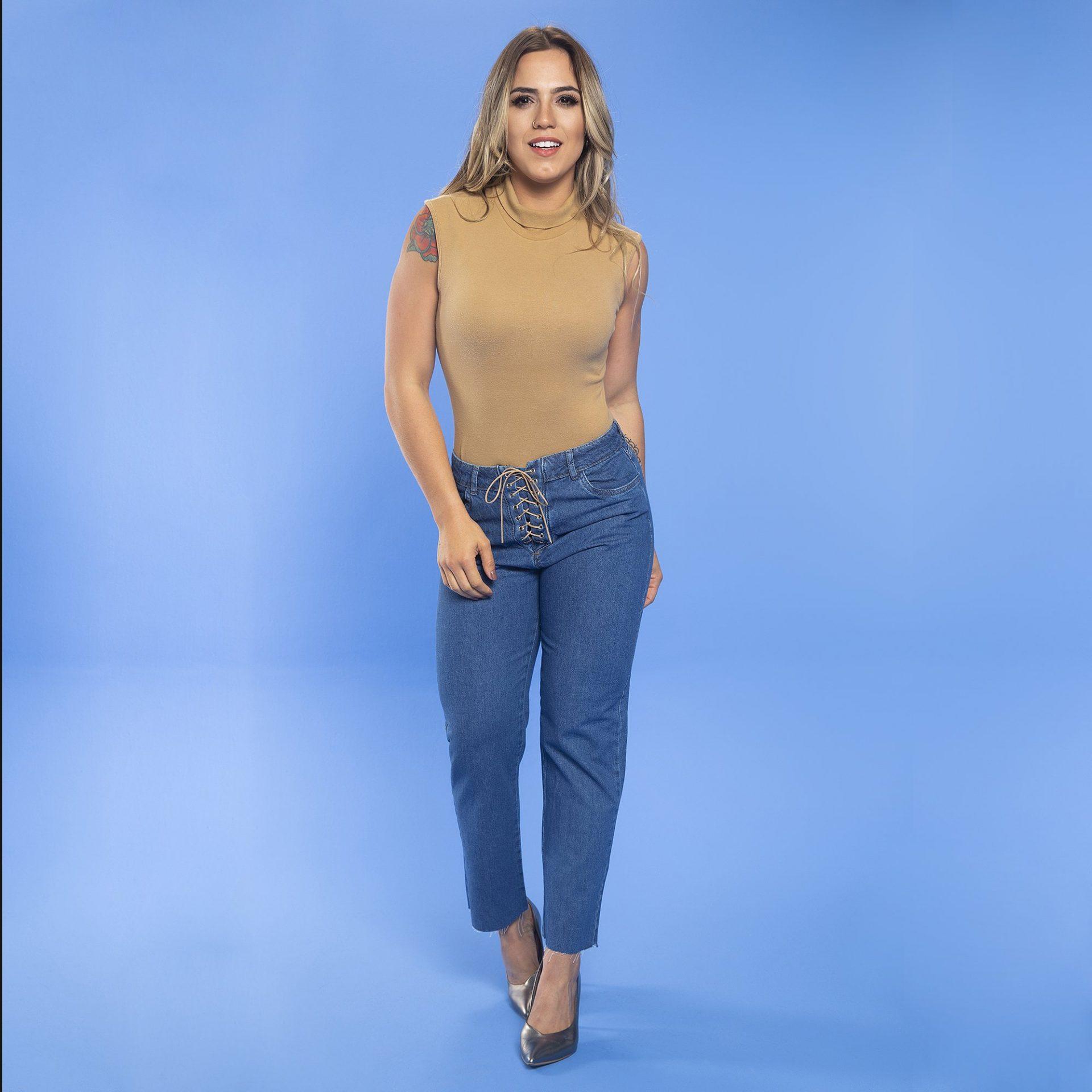 Calça Jeans Cordão