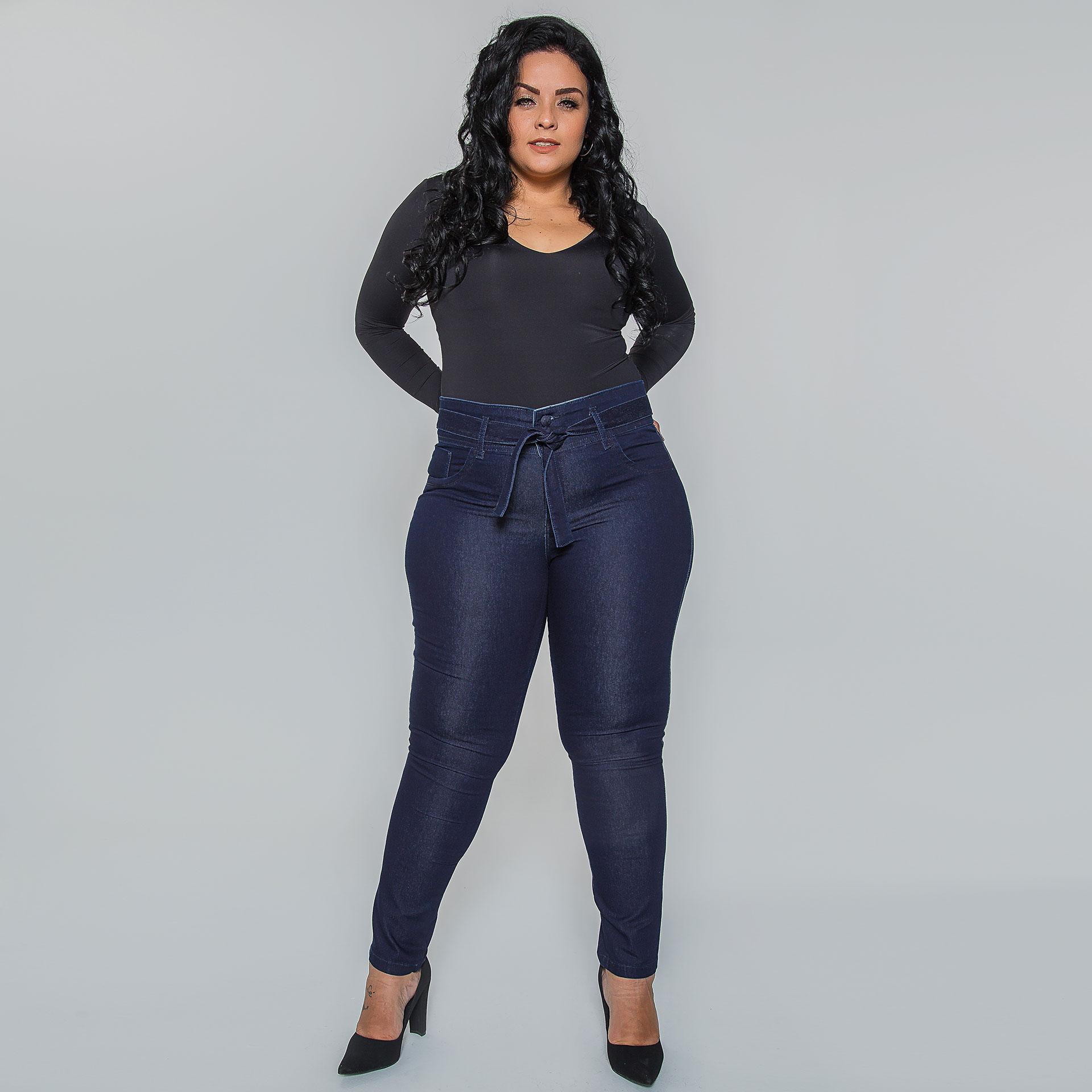 Calça Clochard Jeans Plus Size