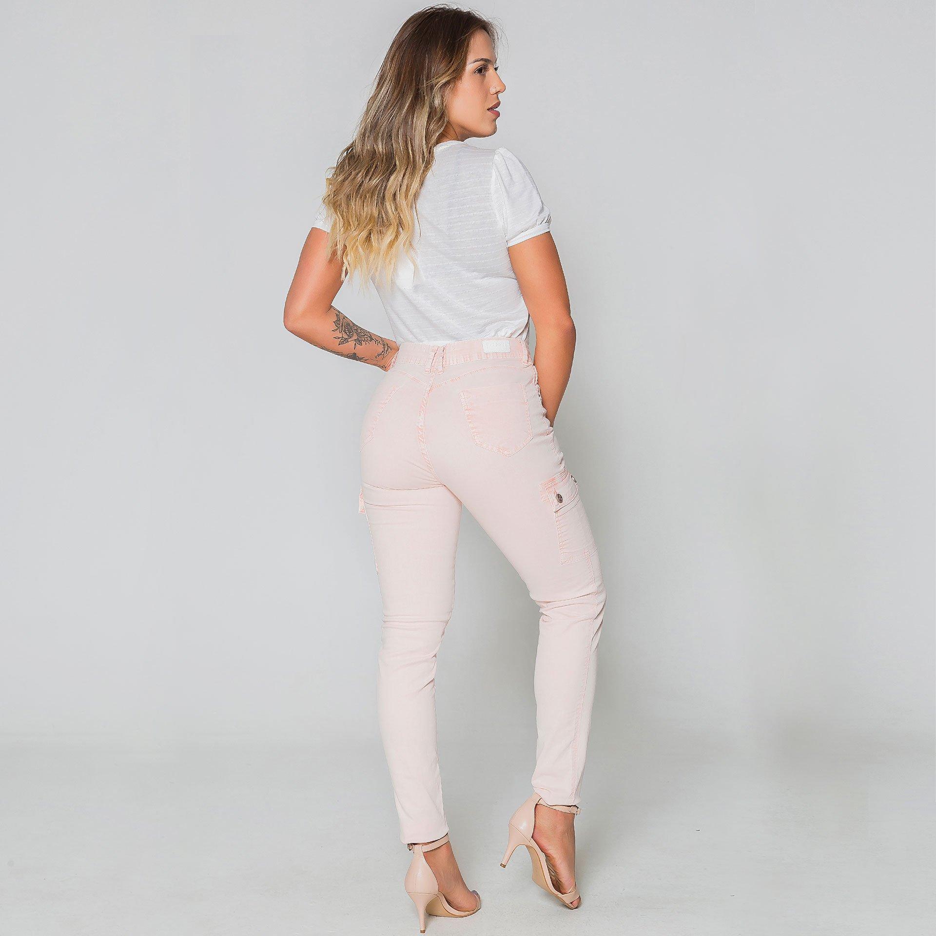 Calça Sarja - Rosa Claro