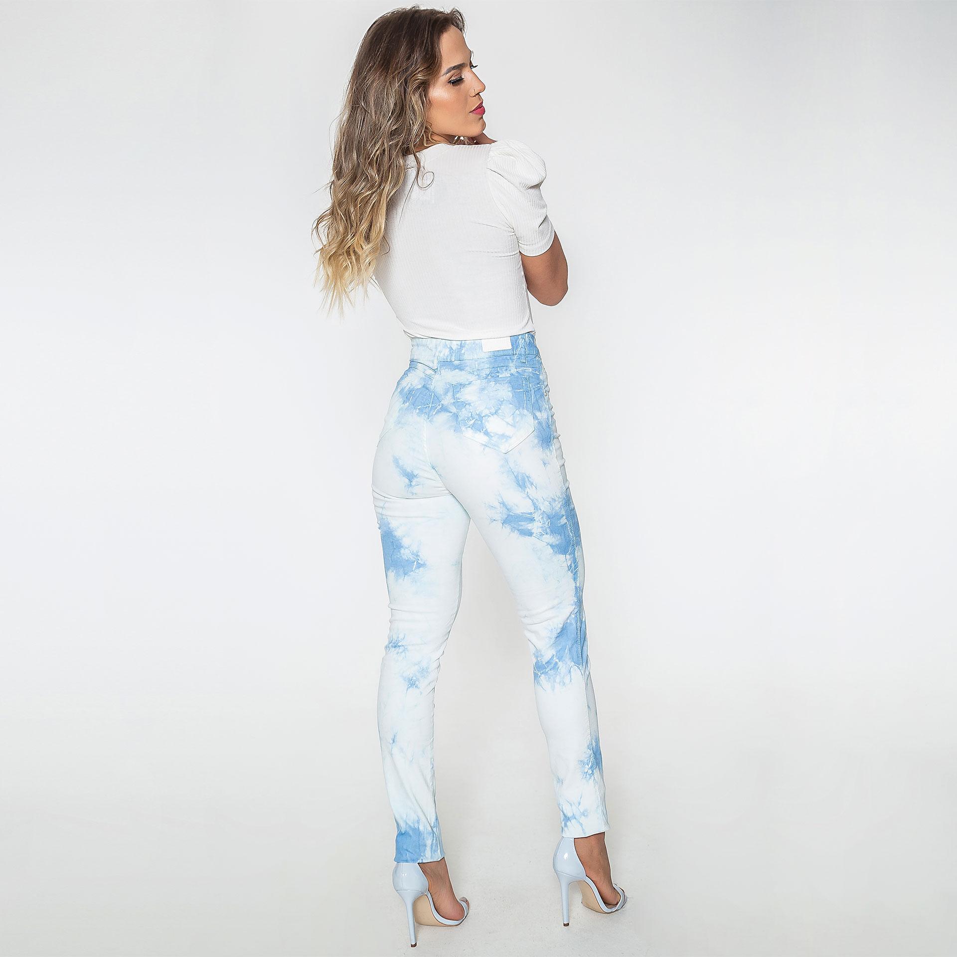 Calça Jeans Tie Dye