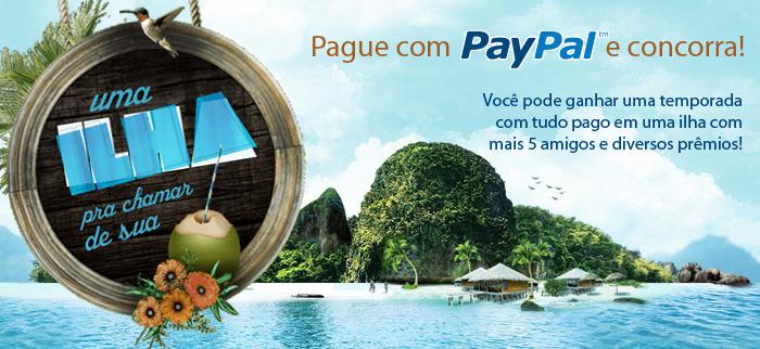 Promoção Paypal Quero uma ilha