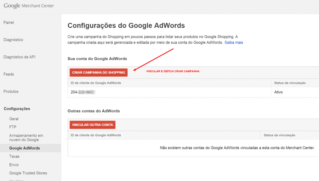 google-merchants-vincular-adwords