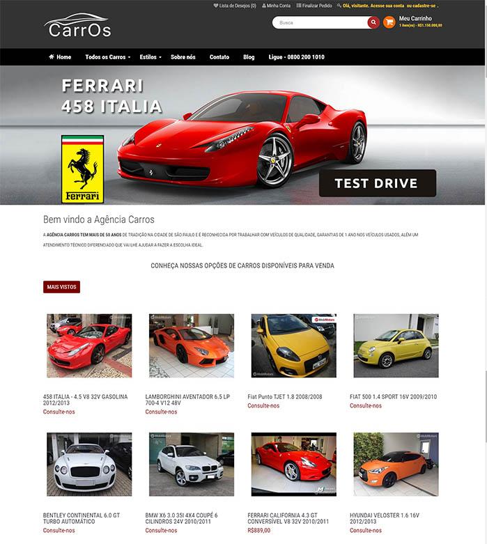 loja-virtual-agencia-de-carros-opencart