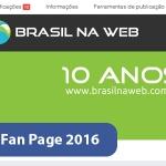 Nova Fan Page do Facebook 2016