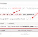 Como validar seu domínio no Zoho Workplace