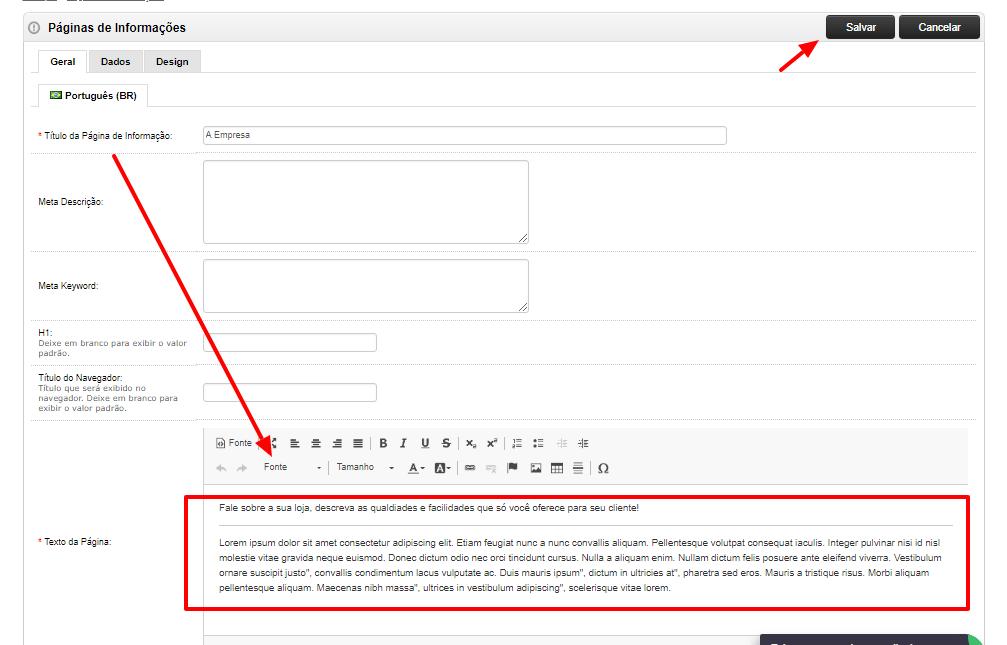 77183624e  Caso queira saber como fazer metas descrições ou técnicas de SEO veja  neste tutorial CLICANDO AQUI