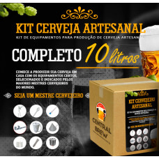 Kit cervejeiro artesanal - 10 litros - Completo