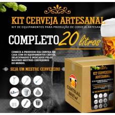 Kit cervejeiro artesanal - 20 litros - Completo