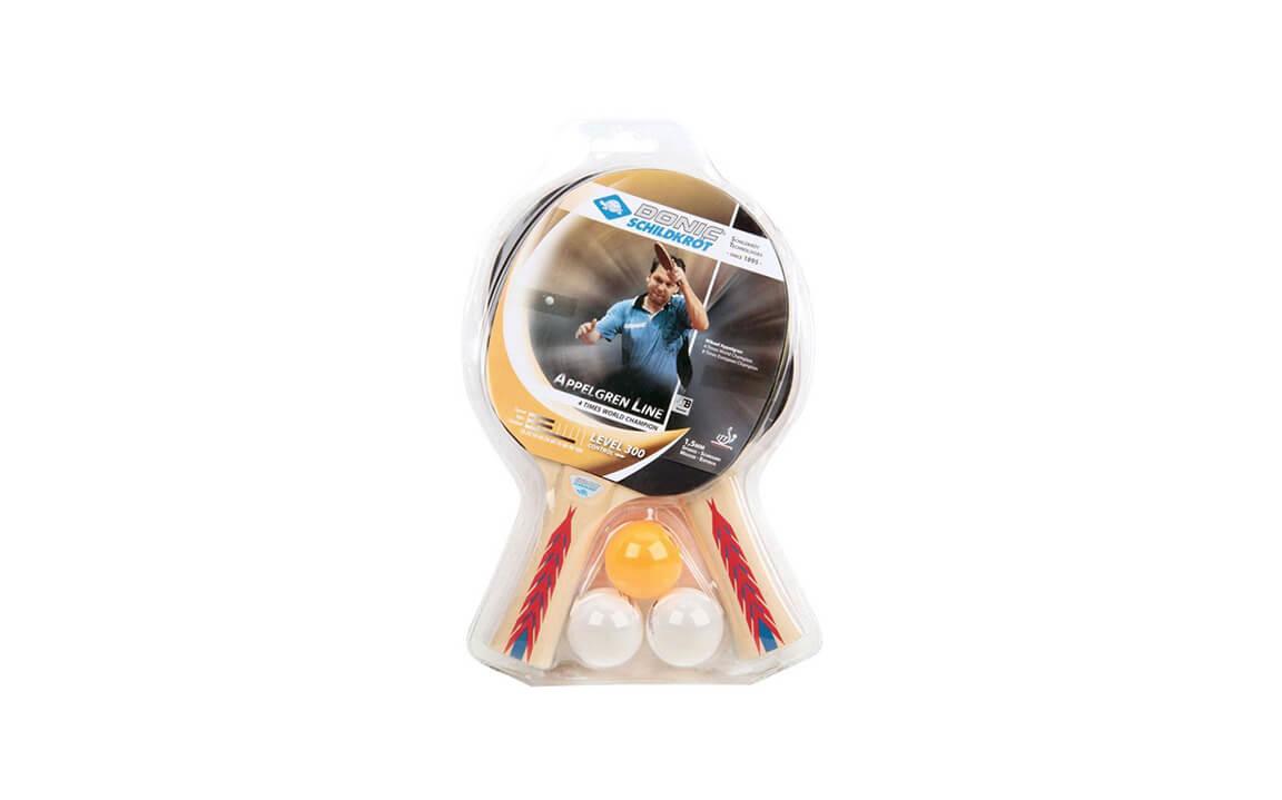 8042665172 Kit de Raquetes para Tênis de Mesa e Ping Pong Appelgren 2 Players set 300  da Donic Schildkröt