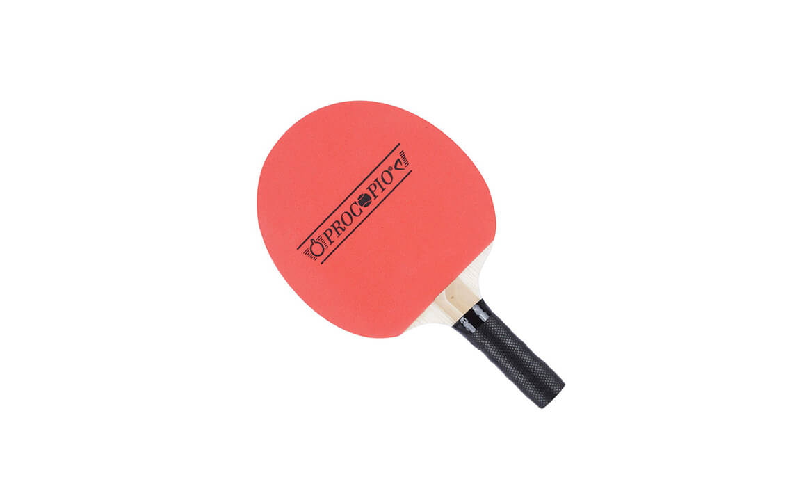 860e057d9 Raquete de Ping Pong com 1 Lado Borrachas e outro Madeira PROCOPIO ...