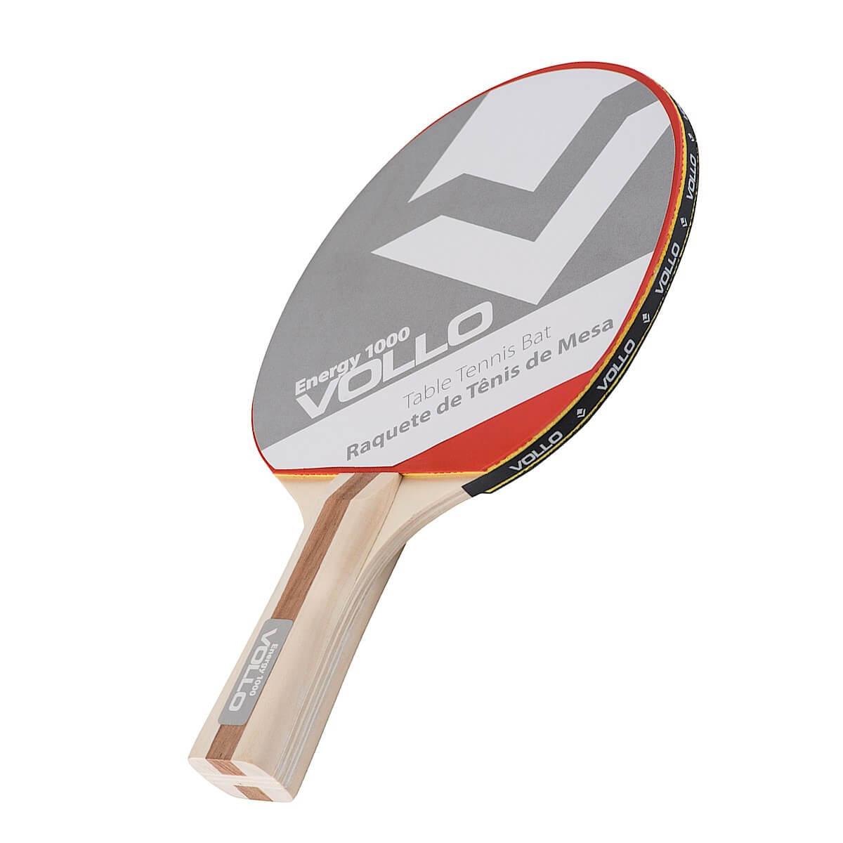 f396c4cbe Raquete de Tênis de Mesa Energy 1000 Mil Vollo Clássica 2 Borrachas ...