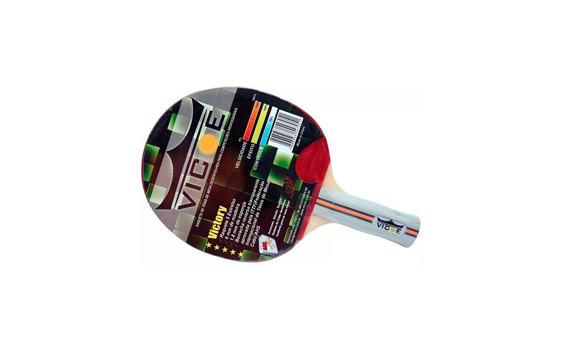 62083e125 Raquete p  Tênis de Mesa Mod. VICTORY (5 ESTRELA) Clássica VICOE PING PONG
