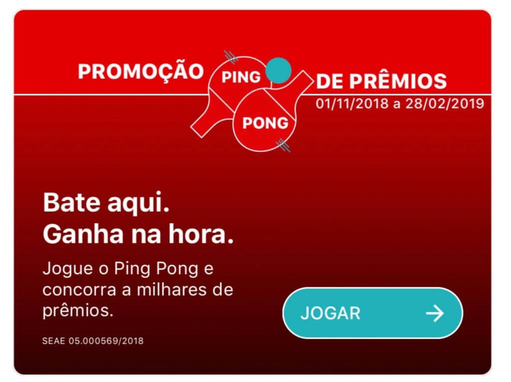 ba02d03f9 Promoção Ping Pong Santander Chuva de Prêmios