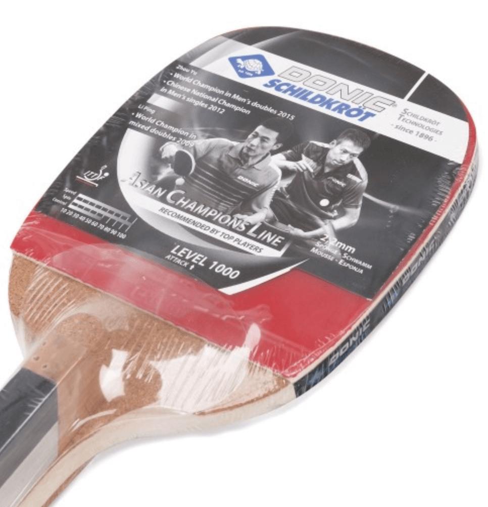 c0aba6ad3 Raquete Tênis de Mesa Caneta Japonesa Asian Champions 1000 Donic