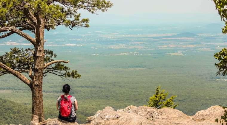 Coisa e a vastidão dos vales da Blue Ridge Parkway