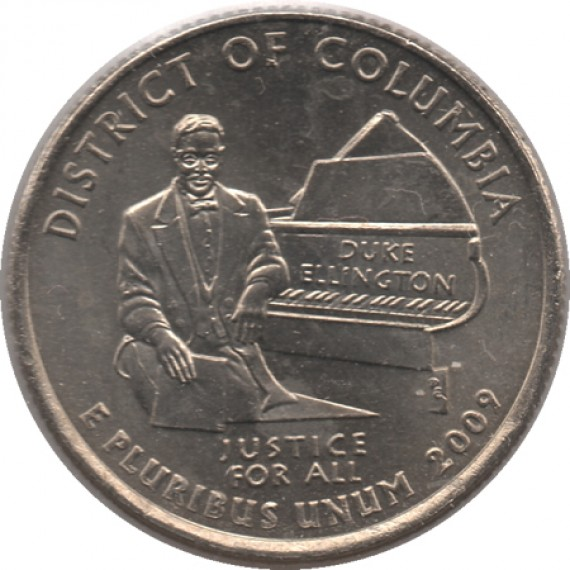 Moeda 0,25 Quarter Dolar - EUA - District of Columbia 2009-P