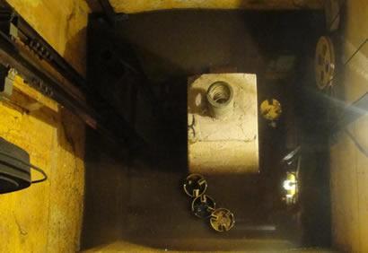 Limpeza de poço de elevador