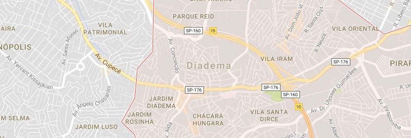 Mapa de Diadema