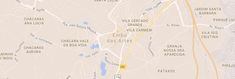 Mapa Embu das Artes